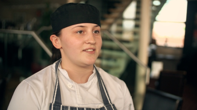 Emma Tait works at Cecchini's Ardrossan restaurant