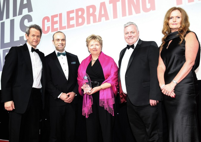 Ayrshire College team with award