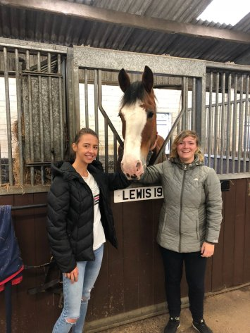 Michelle (left) and Stephanie (right) with their favourite horse