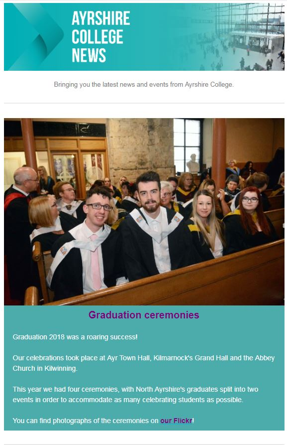 ayrshire college newsletter choose college ayrshire college blog